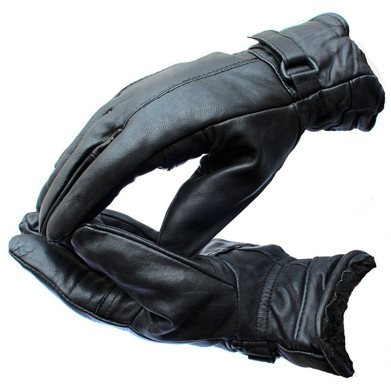 Buy Winter Bikers Warm Leather Motorcycle Rider Gloves For Bike Driving online