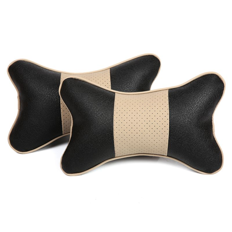 Buy Pegasus Premium Black-Beige Car Neck Pillow - Set of 2 online