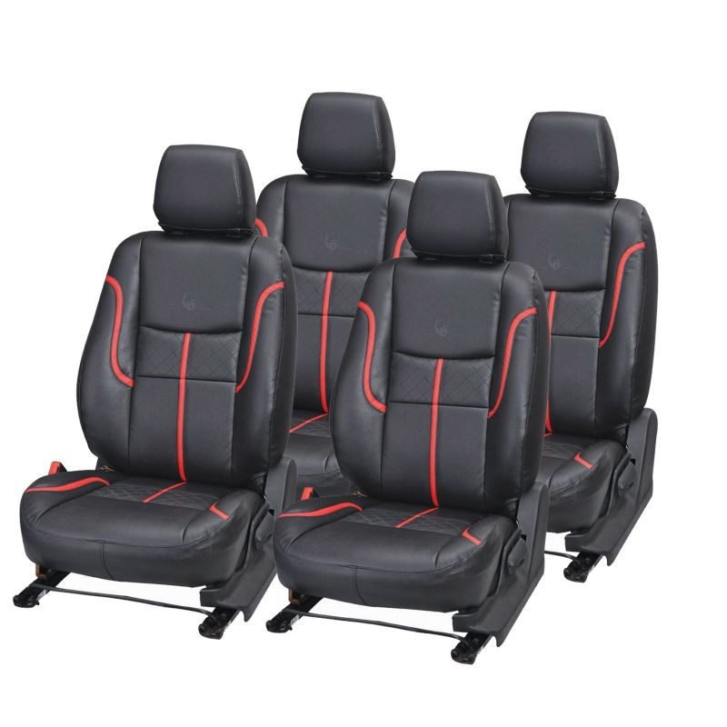 Buy Pegasus Premium Figo Car Seat Cover - (code - Figo_black_red_prime) online