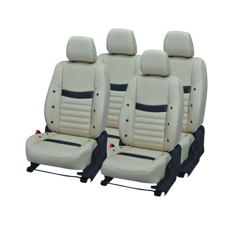 Buy Pegasus Premium Tavera Car Seat Cover - (code - Tavera_beige_black_style) online