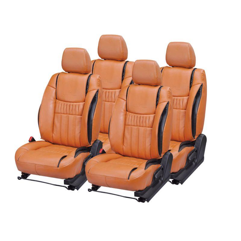 Buy Pegasus Premium Creta Car Seat Cover - (code - Creta_orange_black_suprime) online