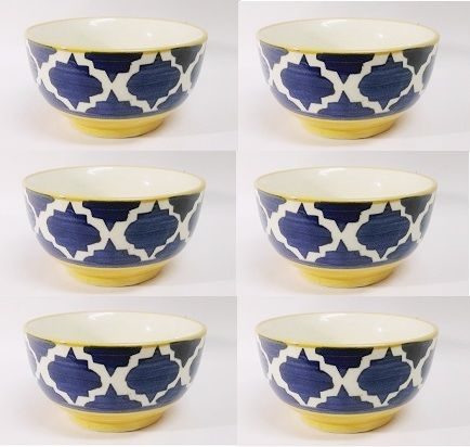 Buy Ceramic Soup Bowls Set Of 6 PCs online