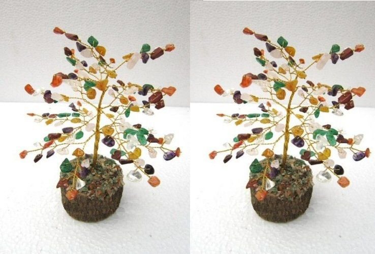 Buy Gems Crystal Tree Good Luck Set Of 2 PCs online