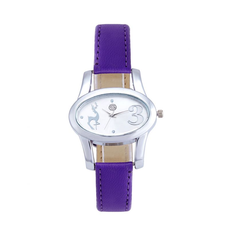Buy Shostopper Lavender Silver Dial Analogue Watch For Women online