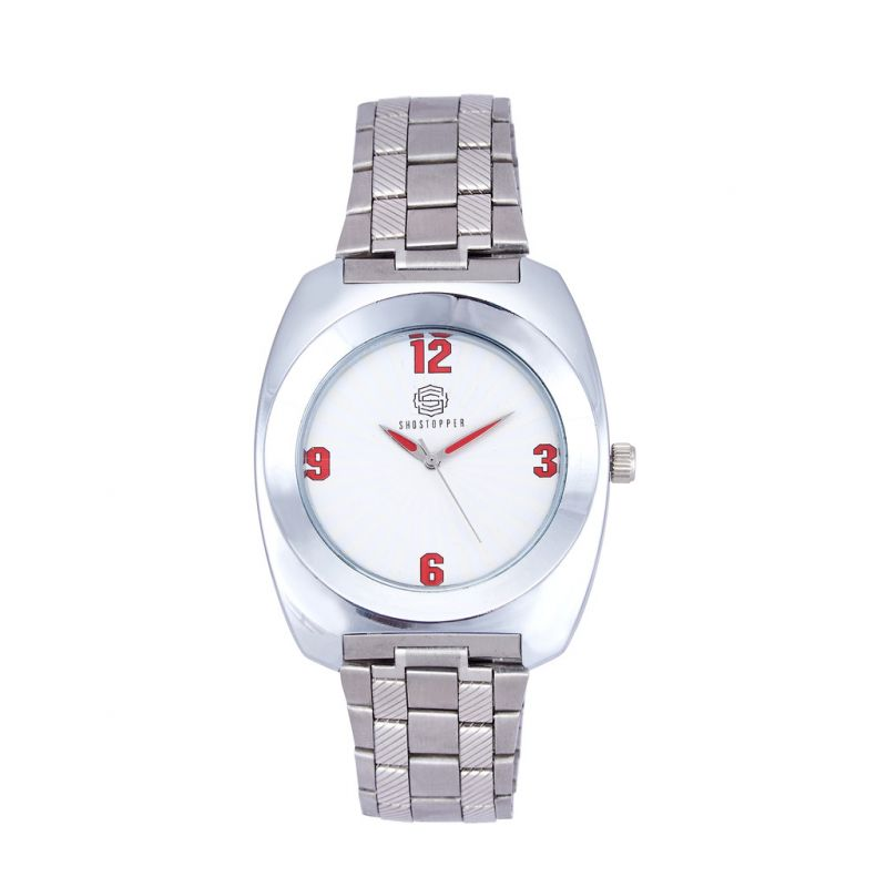 Buy Shostopper Unique Metallic White Dial Analogue Watch For Men online