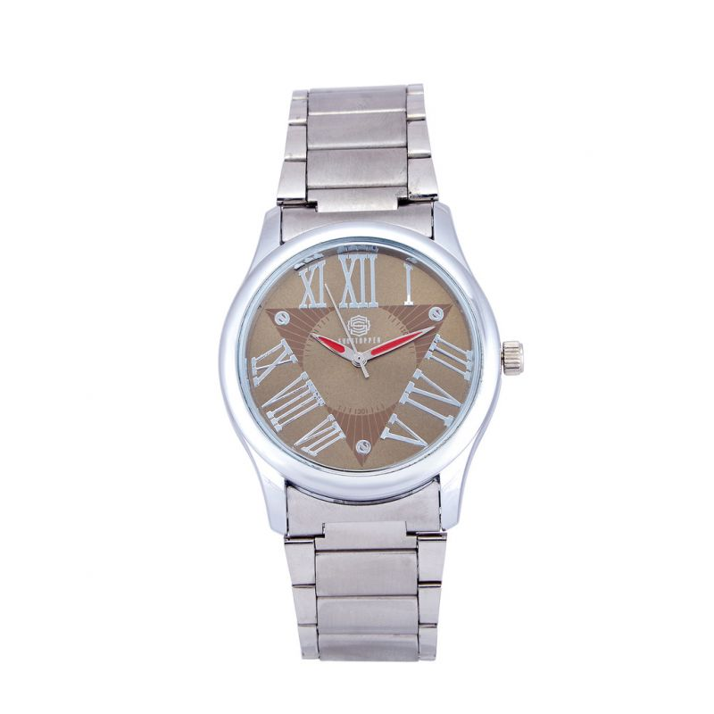 Buy Shostopper Roman Metallic Brown Dial Analogue Watch For Men online