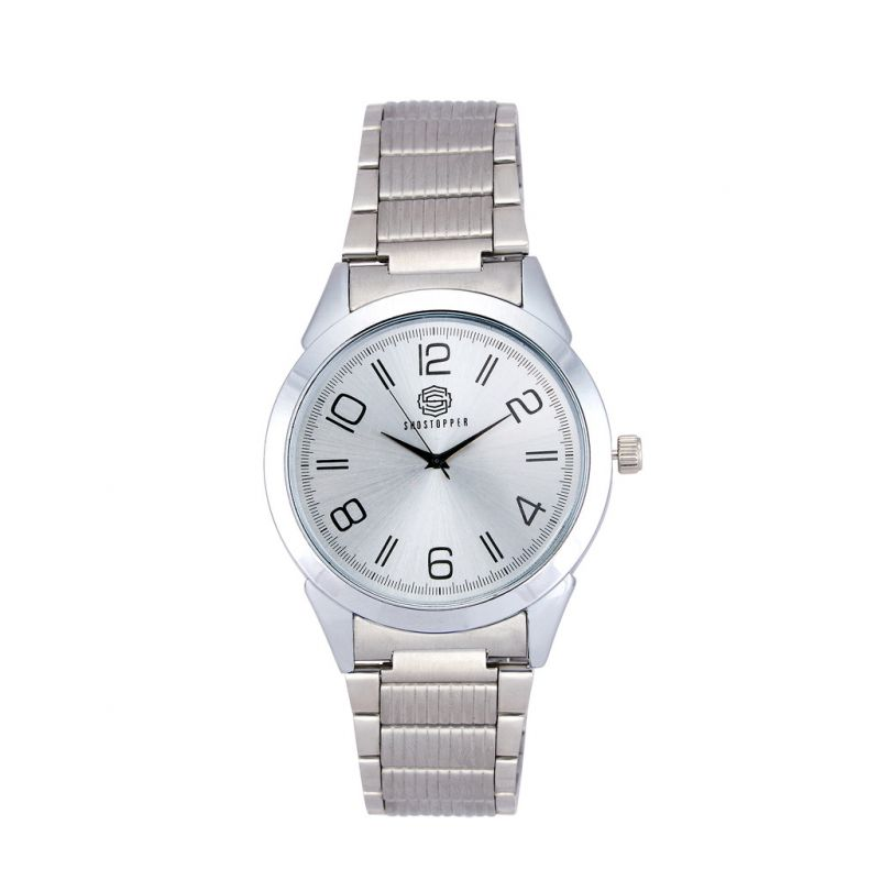 Buy Shostopper Casual Metallic Grey Dial Analogue Watch For Men online