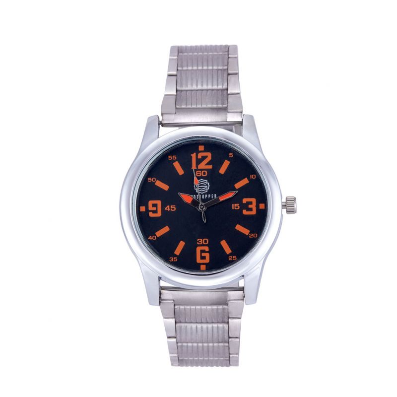 Buy Shostopper Candy Metallic Black Dial Analogue Watch For Men online