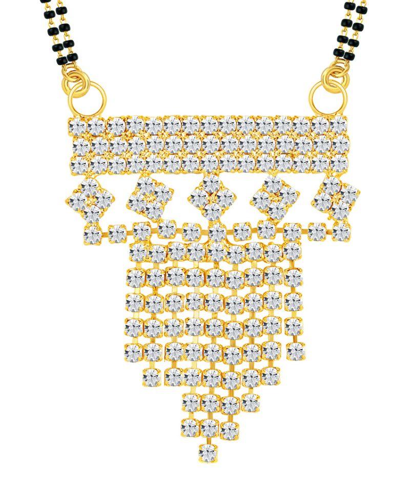 Buy Shostopper Marvellous Gold Plated Australian Diamond Mangalsutra Pendant online