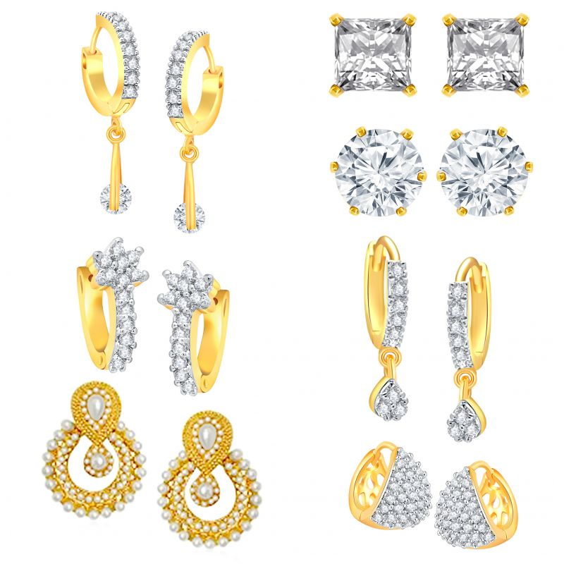 Buy Shostopper Jewellery Presents Combo Of 7 Earrings Sj229cb online