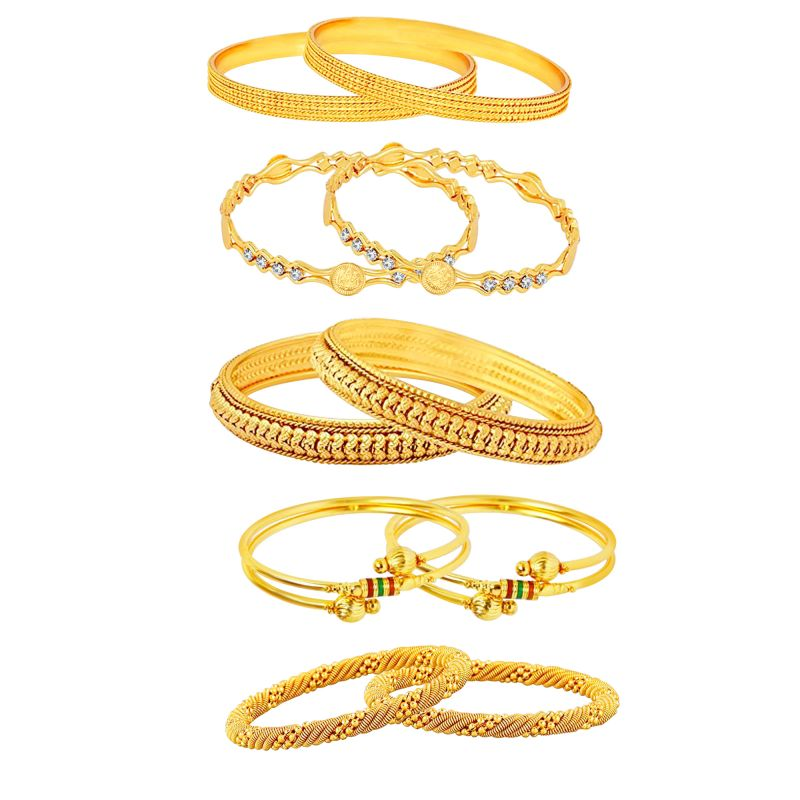 Buy Shostopper Combo Of Five Trendy Traditional Bangles Set Sj32001b online