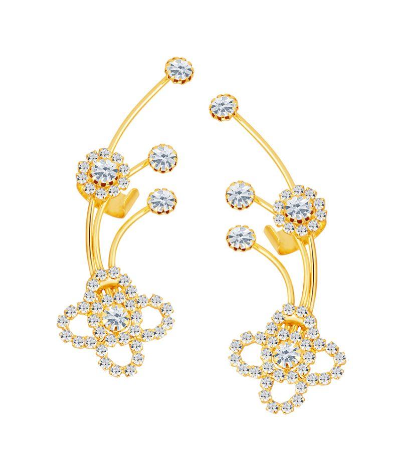 Buy Shostopper Elegant Gold Plated Australian Diamond Earcuff online