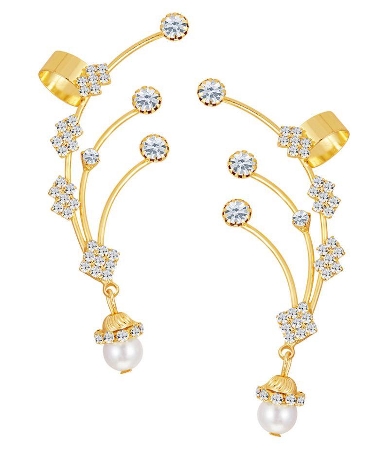 Buy Shostopper Delightly Gold Plated Australian Diamond Earcuff online