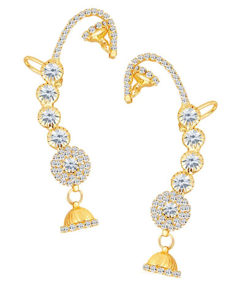 Buy Shostopper Attractive Gold Plated Australian Diamond Earcuff online