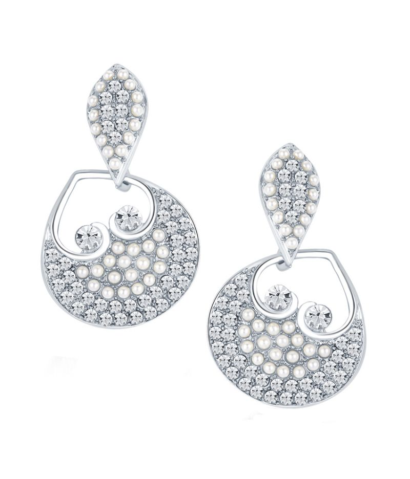 Buy Shostopper Glorious Rhodium Plated Australian Diamond Earring online