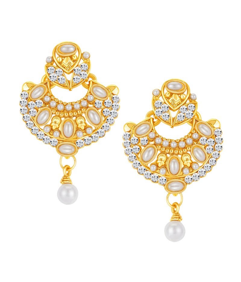 Buy Shostopper Gleaming Gold Plated Australian Diamond Earring online