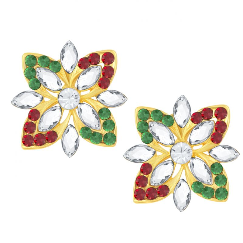 Buy Shostopper Butterfly Gold Plated Australian Diamond Earring Sj6067en online
