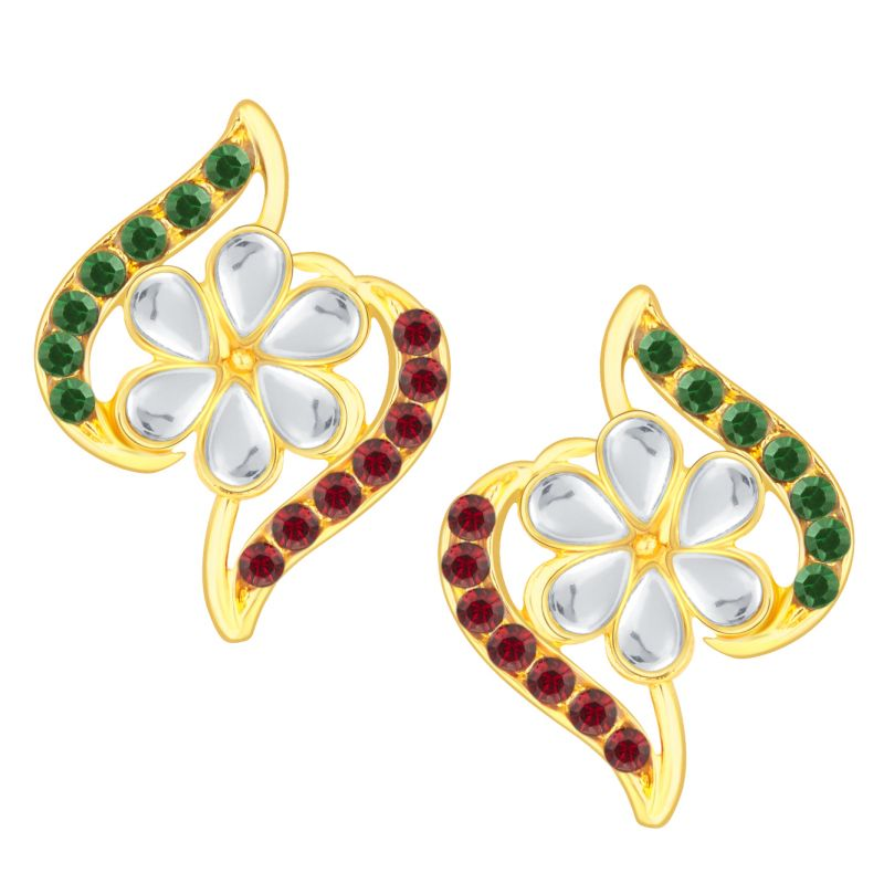 Buy Shostopper Marvellous Gold Plated Australian Diamond Earring Sj6069en online