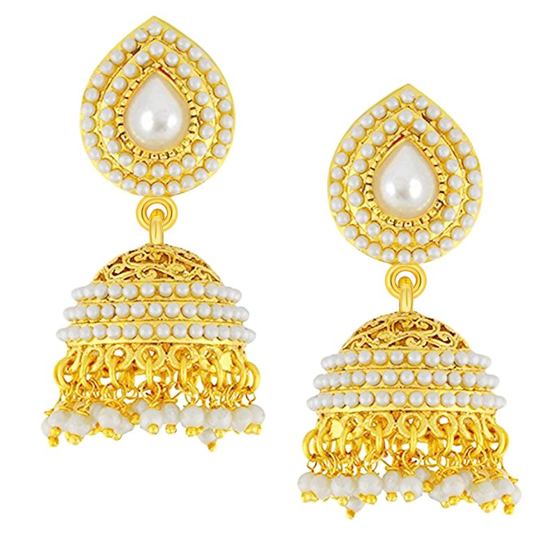 Buy Shostopper Gold Plated Jhumki Earrings For Girls And Women Sj6080en online