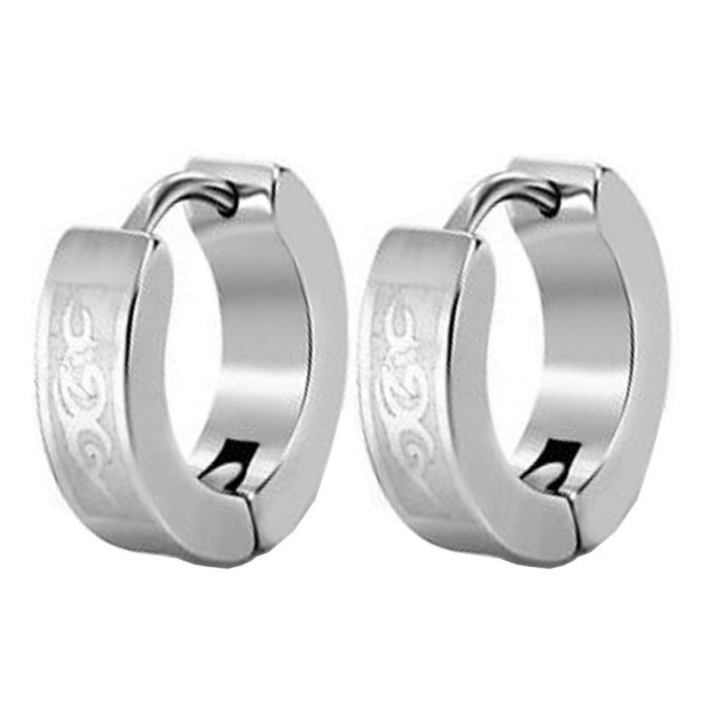47e6f51263c58 Men Style Silver Tribal Hoop Earring - Er12005