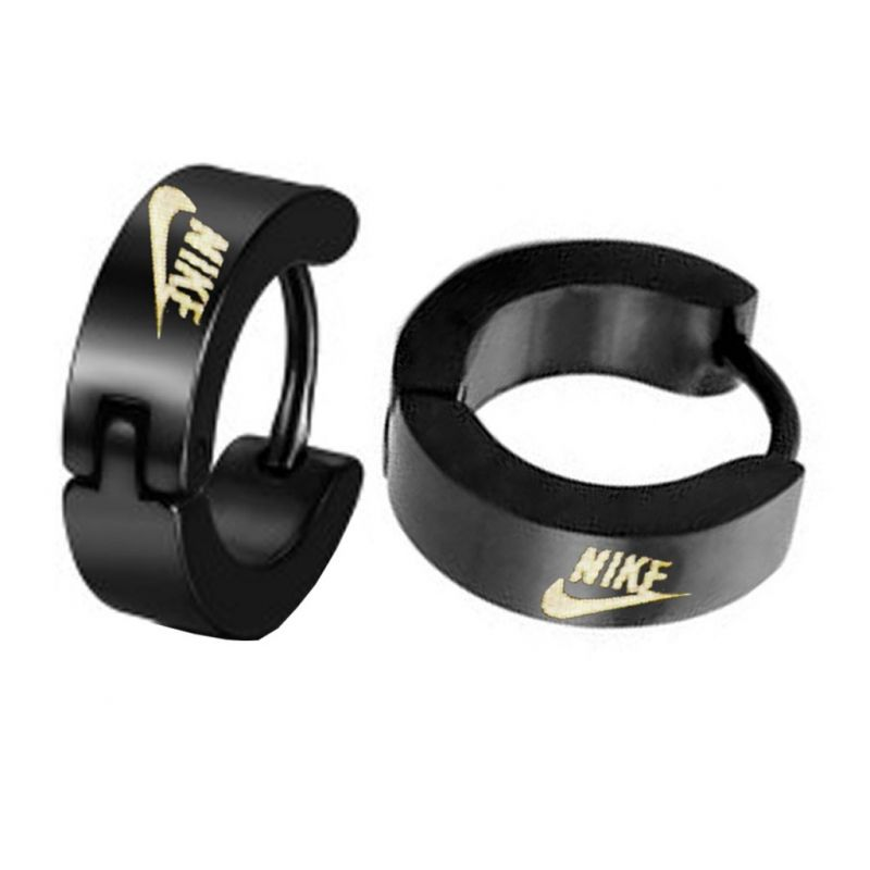 Men Style Black Nike Inspired Hoop Earring Er12010 Online Best Prices In India Rediff Ping