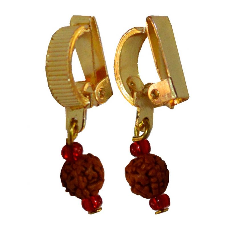 Buy Men Style Rudraksha Shivaji Bali Gold Alloy Non Piercing Hoop ...