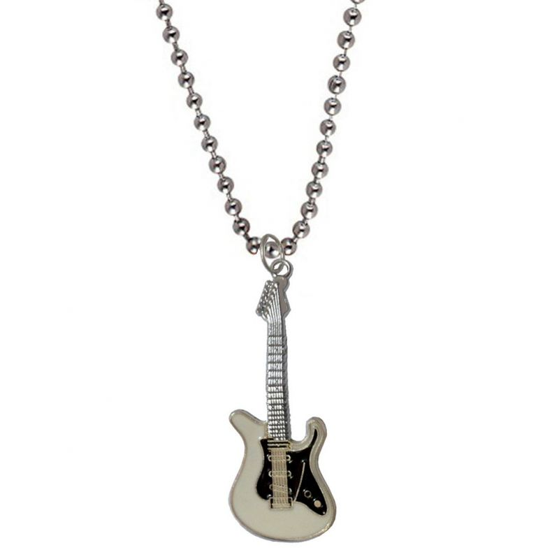 Buy Men Style Rock Electric Music Guitar Black And White Stainless