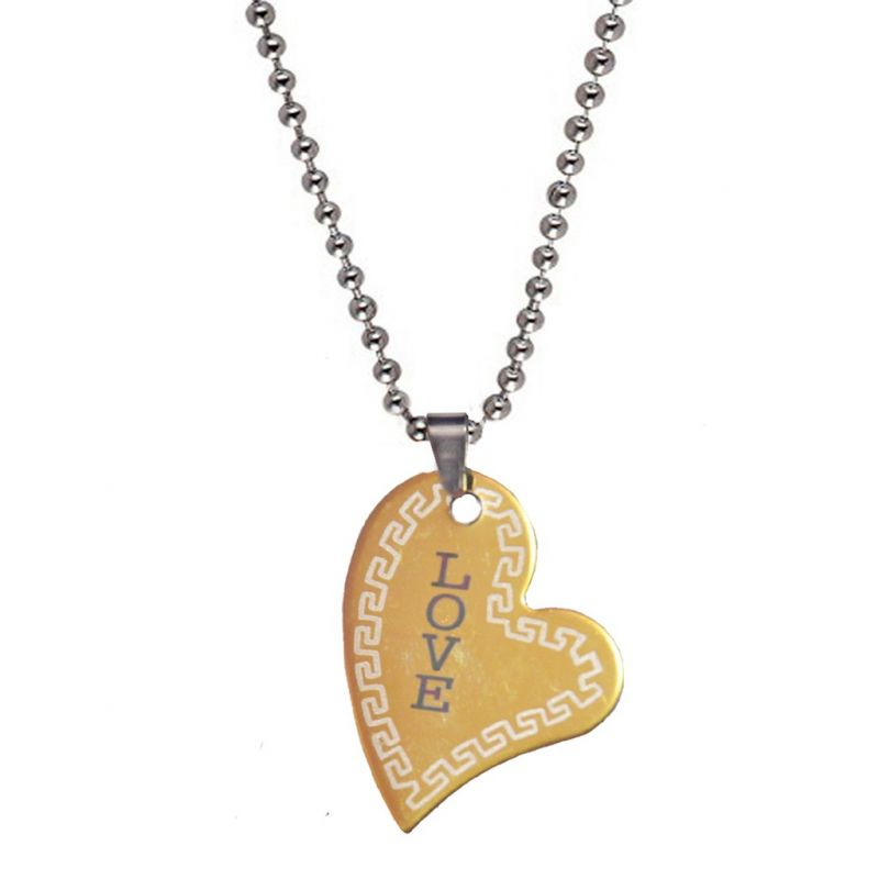 Buy Men Style New Arravial Love Gold Stainless Steel Heart Shape ...