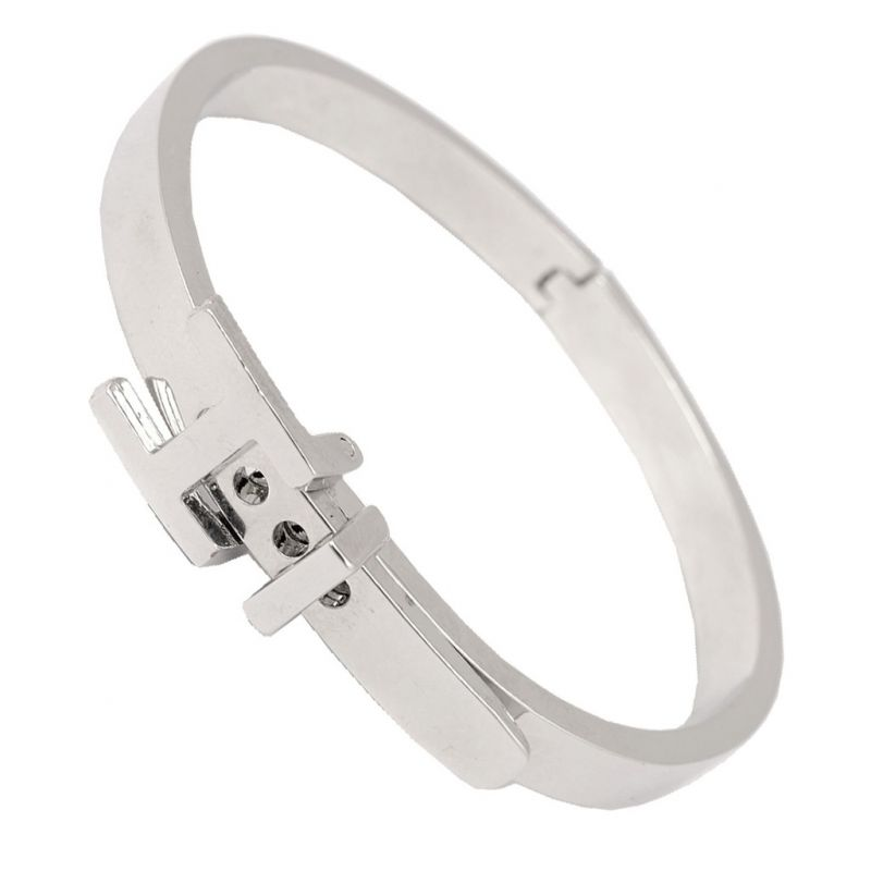 c5e17ba3a57 Men Style Adjustable size H Belt Buckle PSBr001003 Silver 316 L Stainless  Steel Round Cuff Bangle. 50%