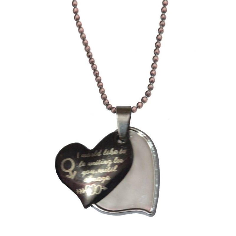 Buy Men Style New Design Female Symbol love Heart Black Alloy ...