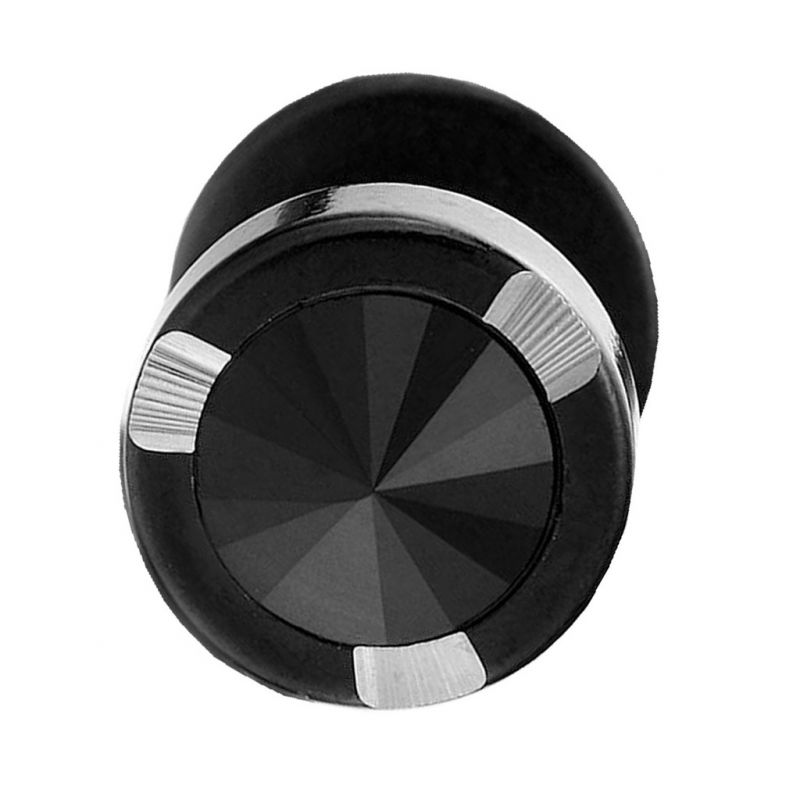 Buy Men Style High Quality Stud Earrings Round Double Sided Black Stainless Steel Surgical Single Stud Earring online