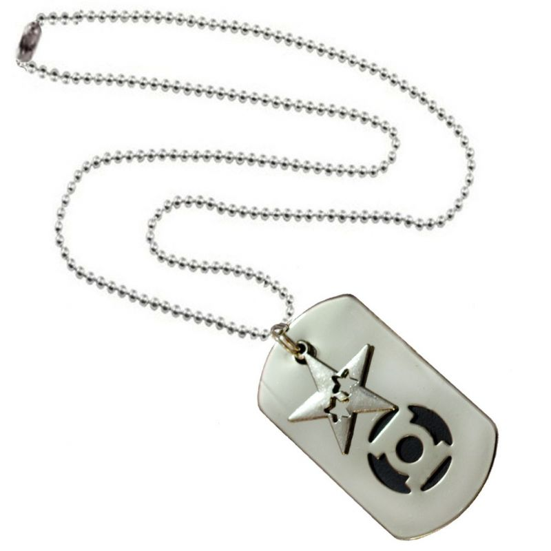 Buy Men Style Star Shape Silver and Black Stainless Steel Square Necklace Pendant For Men And Boys online