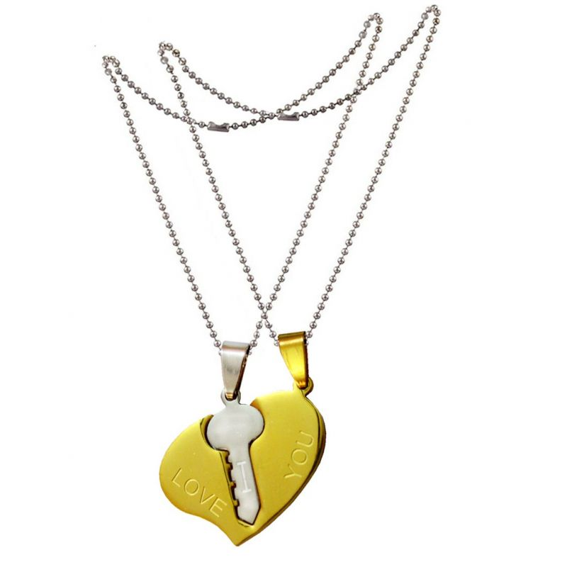 Buy Special Gift Ideas for Her And His Romantic Couple Magnetic Pendant online