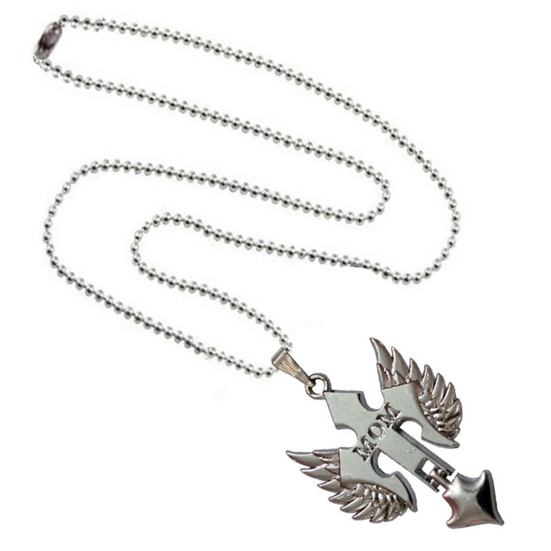 Buy Men Style I Love Mom Prayer Cross Pendant Necklace with Angel Wing Silver Alloy Necklace Pendant For Men And women online