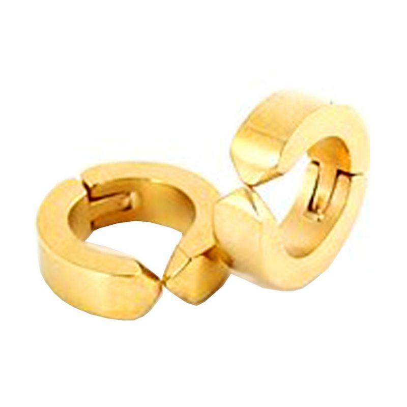 Buy Men Style Gold Non-pireced 316l Clip On Hoop Earring - Er12006 online