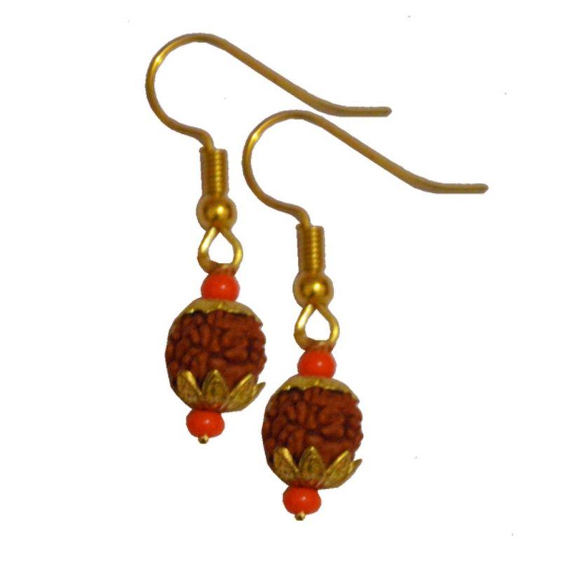 Buy Men Style Medium Gold Plated Shivaji Bali Brown And Gold Wood ...