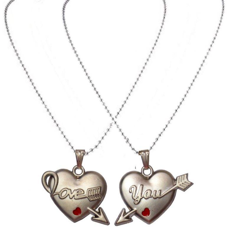 Buy Men Style Silver Zinc Alloy Heart Pendent Silver Zinc Alloy ...