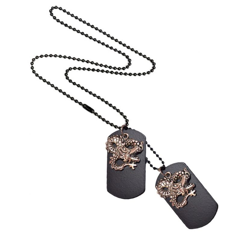 Buy Men Style Vintage style Dragon Design Necklace?? Silver Alloy 00 Pendent For Men And Women online