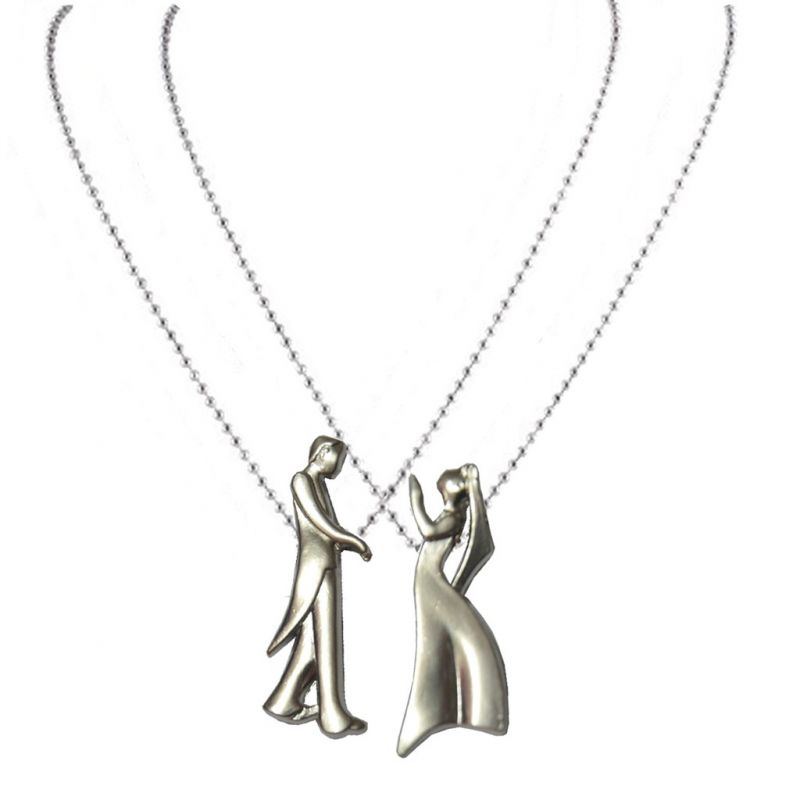 Buy Men Style New Fashion Valentines Day Couple Silver Zinc Alloy Gift Pendant For Men And Women (product Code - Spn09048) online