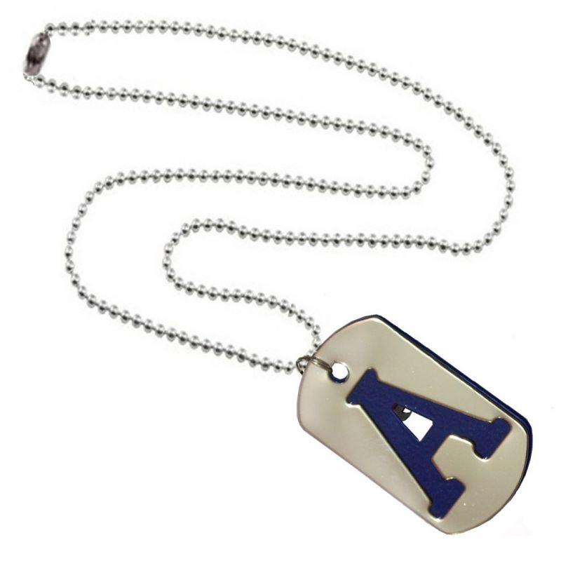 buy men style alphabet a letter silver and blue 317 l stainless