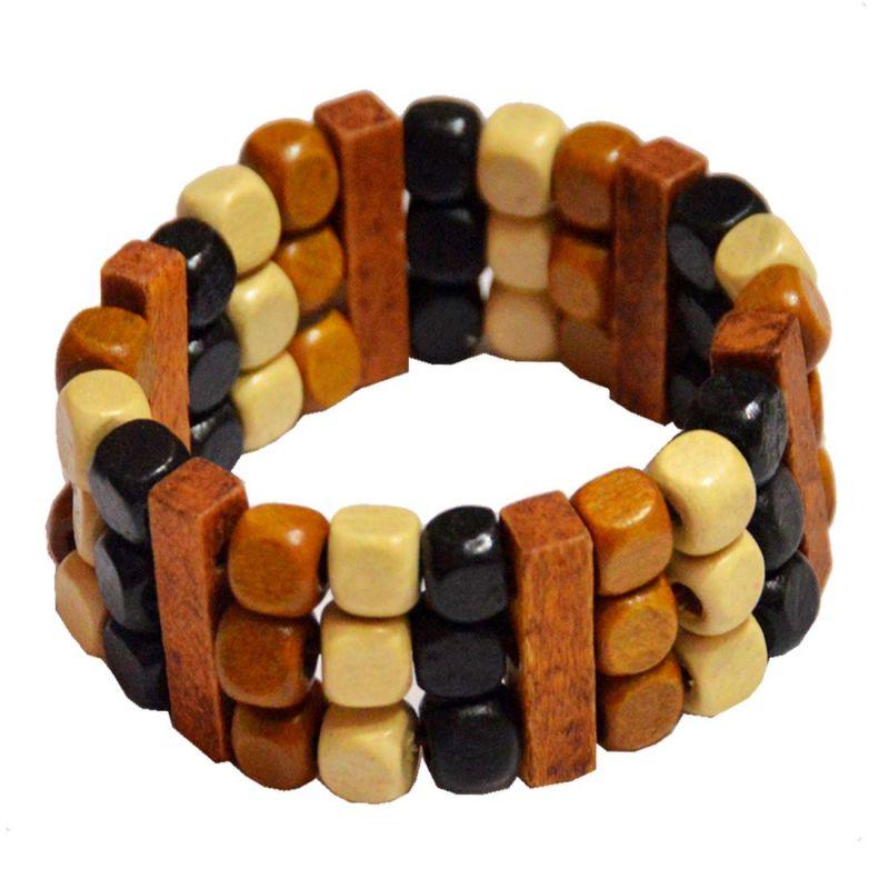 Buy Men Style Handmade Multicolor Wood Bracelet For Men And Women online