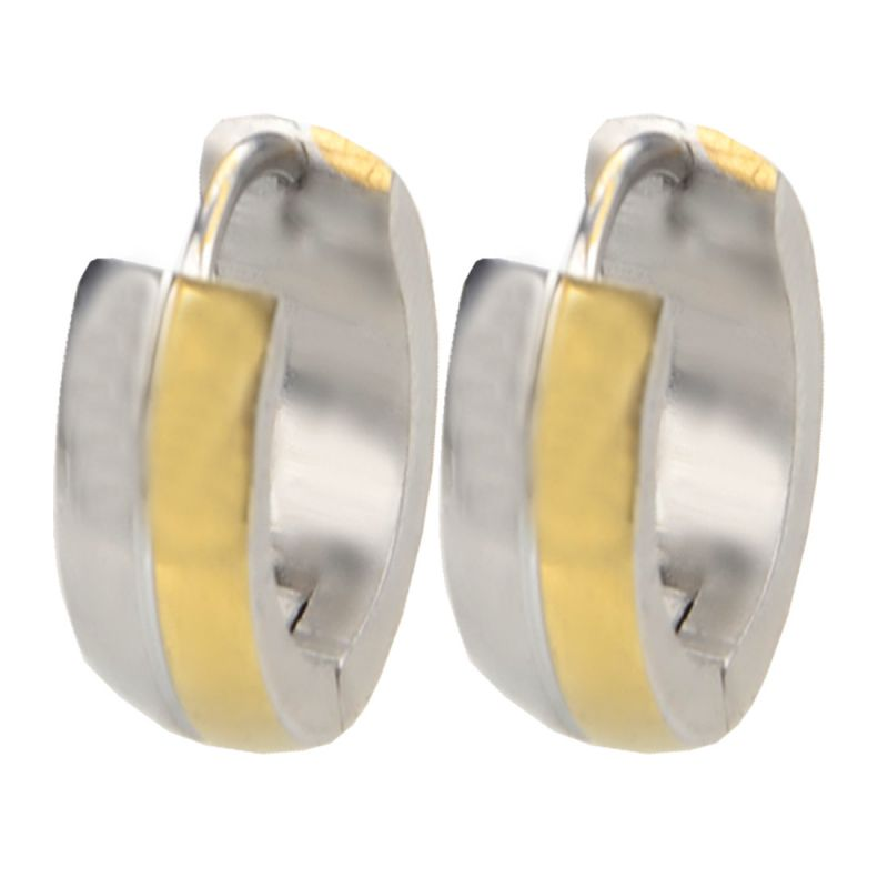 064beb0539145 Men Style Best Quality 316l Gold Stainless Steel Round Hoop Earring For Men  And Boy