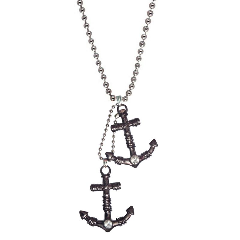 Buy Men Style Grey Anchor Inspired Shape Pendent online