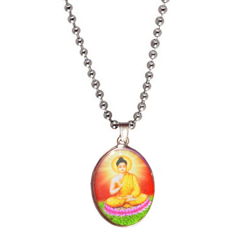 Buy Men Style Budha Silver Pendent For Men And Boys online