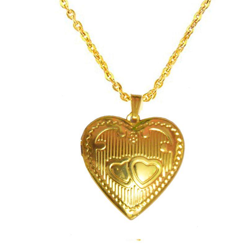 Gold chain with locket design for men