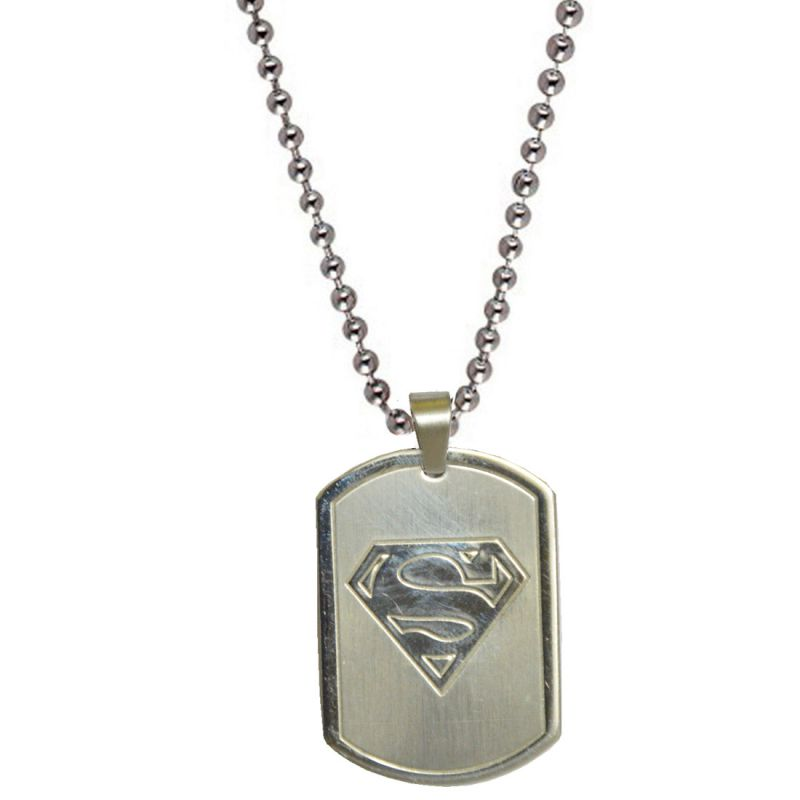 Buy Men Style Superman Inspired Silver S Plated Silver Stainless Steel Square Pendent For Men Spn04001 online