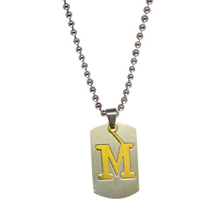 Buy Men Style Silveralphabet Letter