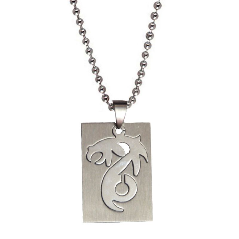 Buy Men Style Best Quality Dragaon Cutting Shape Silver Stainless Steel Square Pendent For Men And Women Spn05084 online