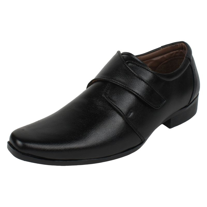 Buy Molessi Mens Black Textured Formal Shoe online