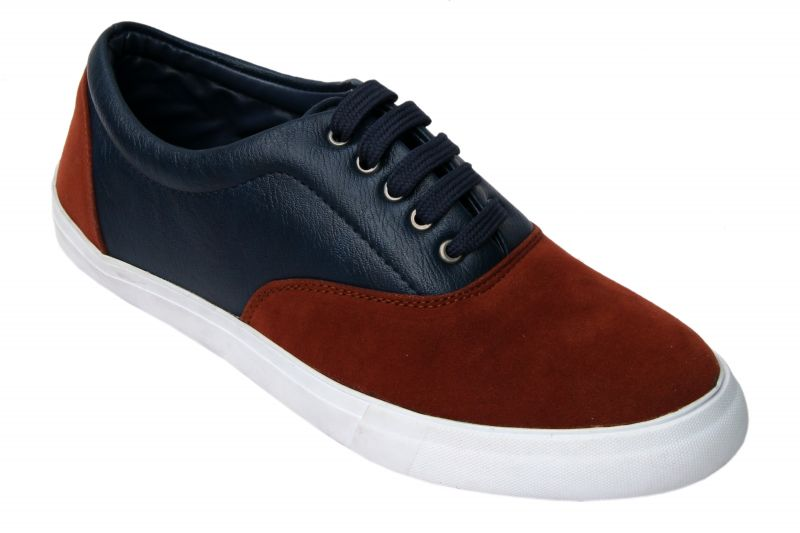 Buy Molessi Mens Orange Blue Lifestyle Sneaker Shoes online